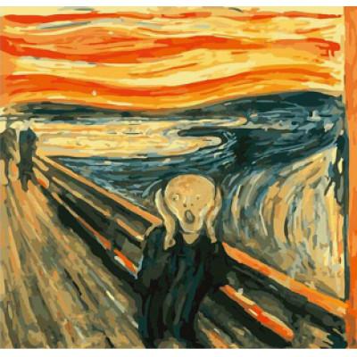 Kit pictura pe numere cu diverse, The Scream