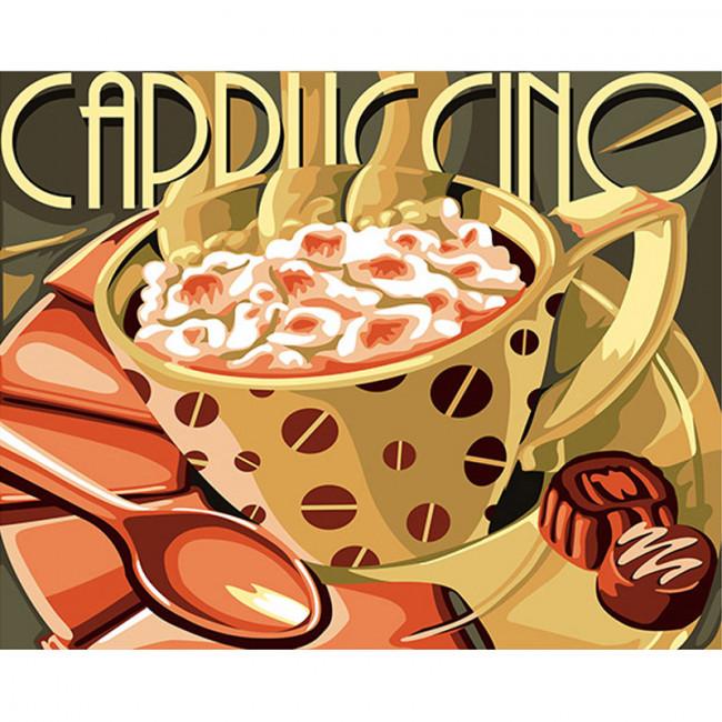 Kit pictura pe numere cu diverse, Cappuccino