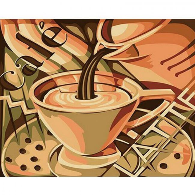Kit pictura pe numere cu diverse, Café latte