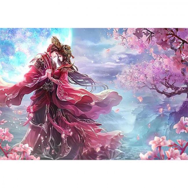 Kit pictura pe numere cu diverse, Pink Passion