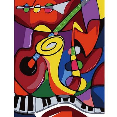 Kit pictura pe numere cu diverse, Musical instruments
