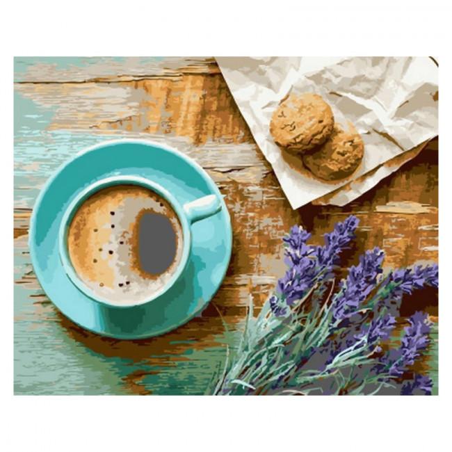 Kit pictura pe numere cu diverse, Lavander & coffee