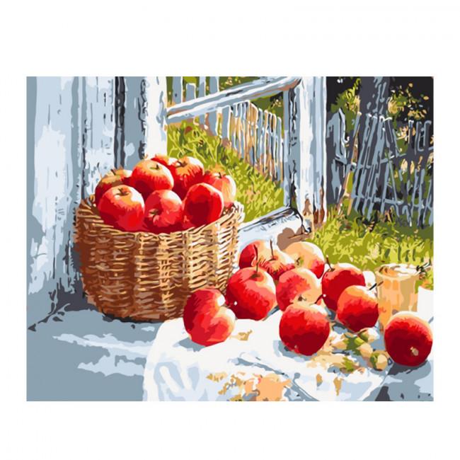 Kit pictura pe numere cu diverse, Juicy apple