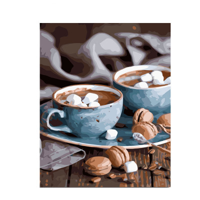 Kit pictura pe numere cu diverse, Hot chocolate