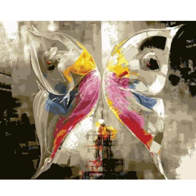 Kit pictura pe numere cu fluturi, DTP1801