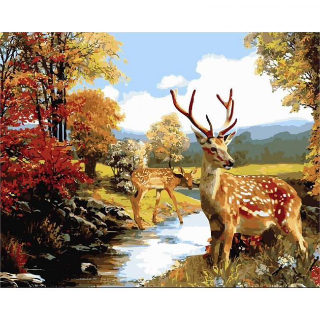Kit pictura pe numere cu animale, Oh Deer