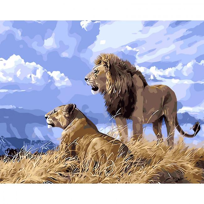 Kit pictura pe numere cu animale, Fierce Animals