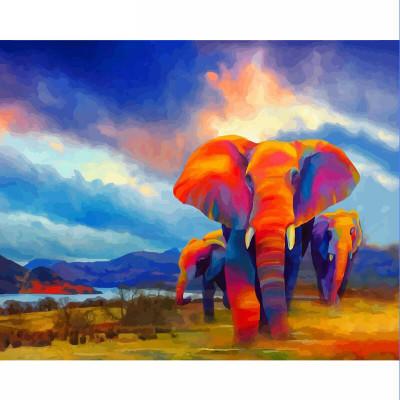 Kit pictura pe numere cu animale, Wildlife