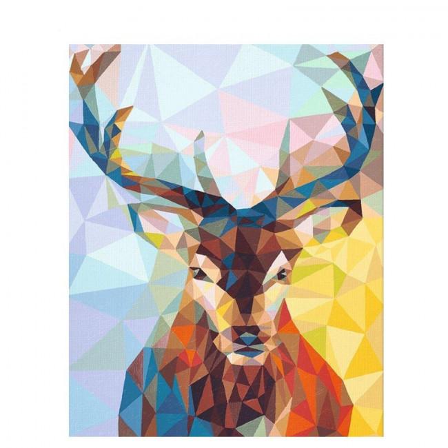 Kit pictura pe numere cu animale, Pop Art Deer