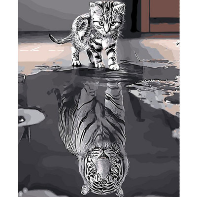 Kit pictura pe numere cu animale, DTP2276
