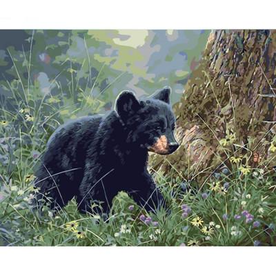Kit pictura pe numere cu animale, DTP2351