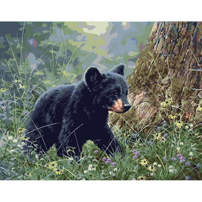 Kit pictura pe numere cu animale, DTP2015