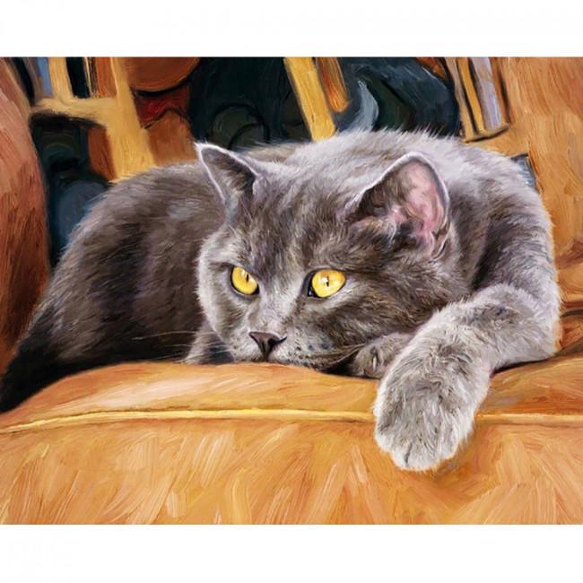 Kit pictura pe numere cu animale, DTP1012