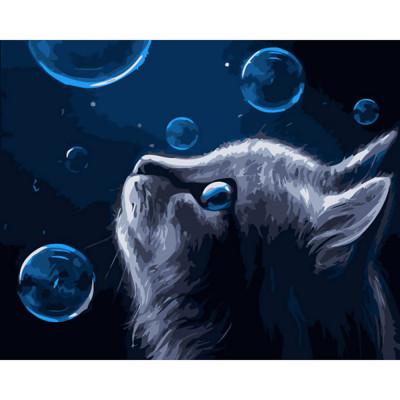 Kit pictura pe numere cu animale, DTP934
