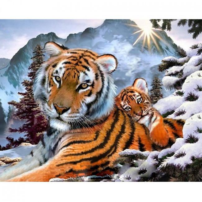 Kit pictura pe numere cu animale, DZ1109