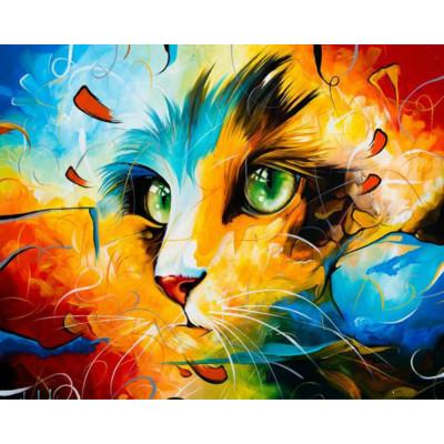 Kit pictura pe numere cu animale, DTP2618