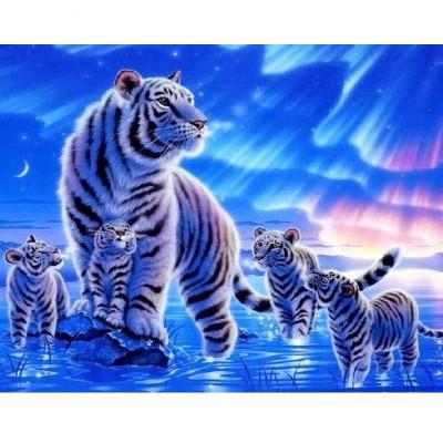 Kit pictura pe numere cu animale, DZ880