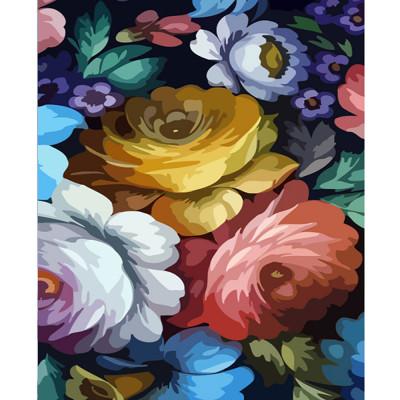 Kit pictura pe numere cu flori, DTP2226