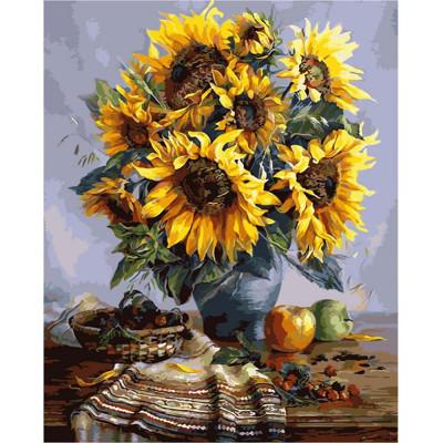 Kit pictura pe numere cu flori, DTP37