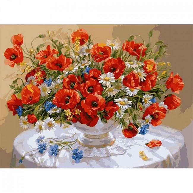 Kit pictura pe numere cu flori, Wild Flowers