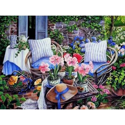 Kit pictura pe numere cu flori, DTP418