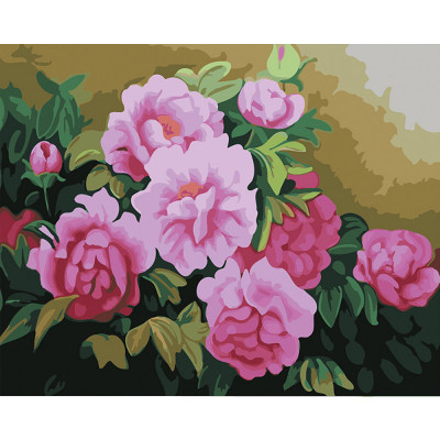 Kit pictura pe numere flori, DTP2382