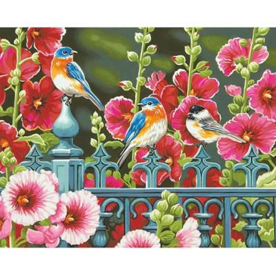 Kit pictura pe numere flori, DTP2460