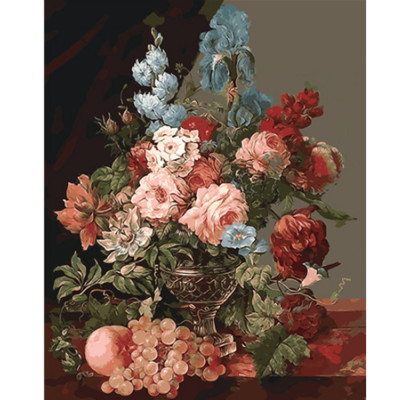 Kit pictura pe numere cu flori, DTP2523