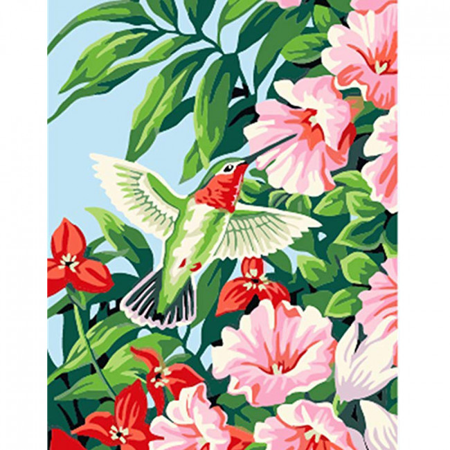 Kit pictura pe numere cu flori, DTP2538