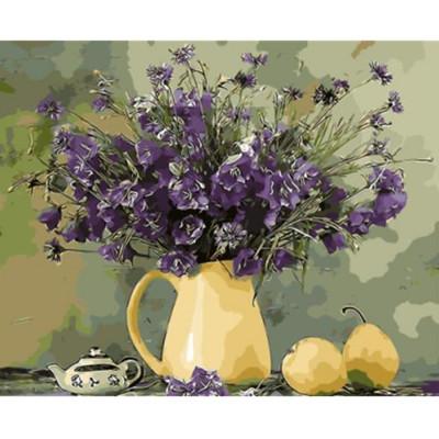 Kit pictura pe numere cu flori, DTP2549