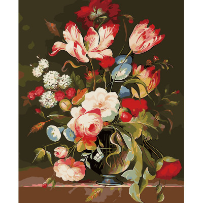 Kit pictura pe numere cu flori, DTP2576