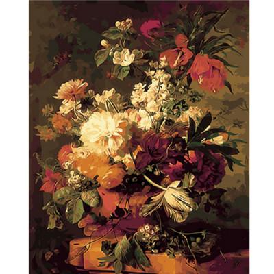 Kit pictura pe numere cu flori, DTP2590