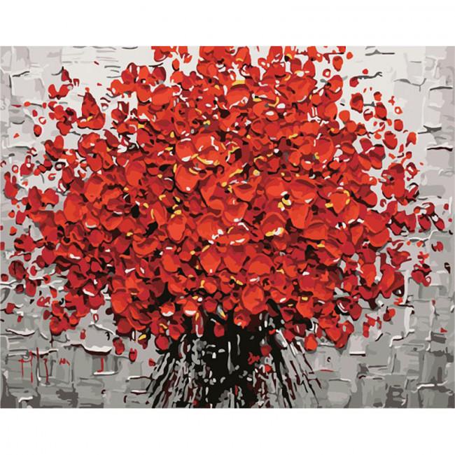 Kit pictura pe numere cu flori, Explosion of flowers