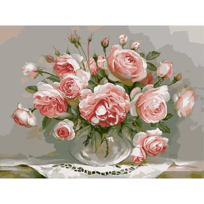 Kit pictura pe numere cu flori, Beautiful roses