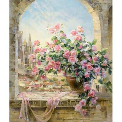 Kit pictura pe numere cu flori, The symphony of flowers