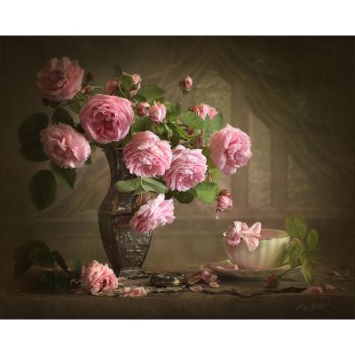 Kit pictura pe numere cu flori, Vintage affair