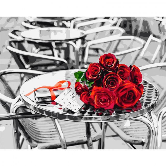 Kit pictura pe numere cu flori, Signed…an admirer!