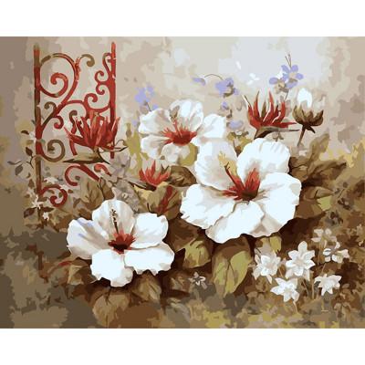 Kit pictura pe numere cu flori, Petunia