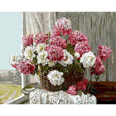 Kit pictura pe numere cu flori, Countryside