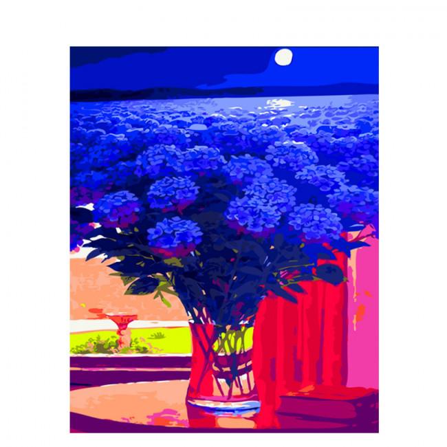 Kit pictura pe numere cu flori, Sky is the limit