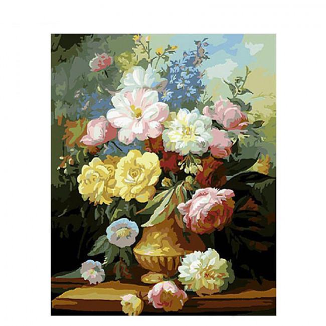 Kit pictura pe numere cu flori, Anchient decoration