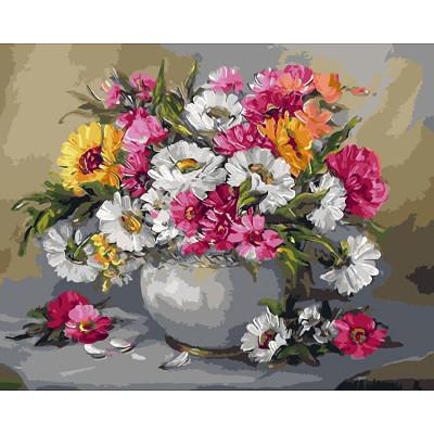Kit pictura pe numere cu flori, Flowers cocktail