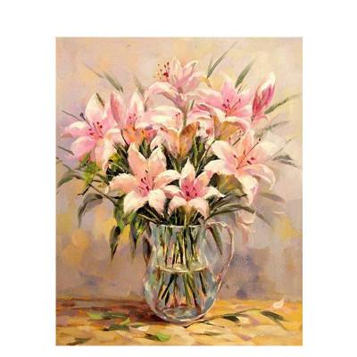 Kit pictura pe numere cu flori, Tenderness