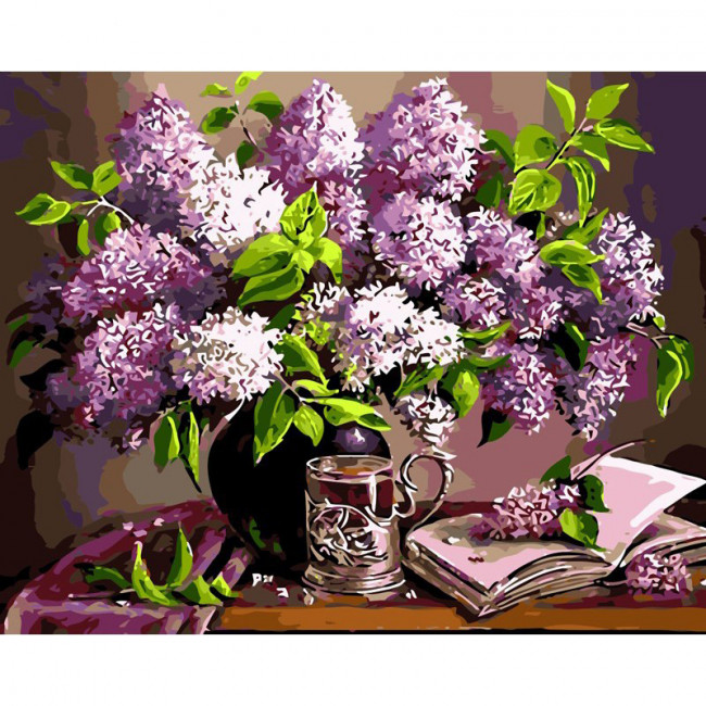 Kit pictura pe numere cu flori, Lily flowers
