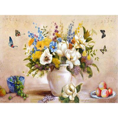 Kit pictura pe numere cu flori, Colorful decoration