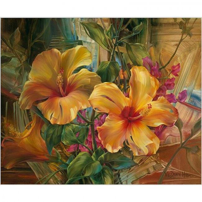 Kit pictura pe numere cu flori, Childhood memories