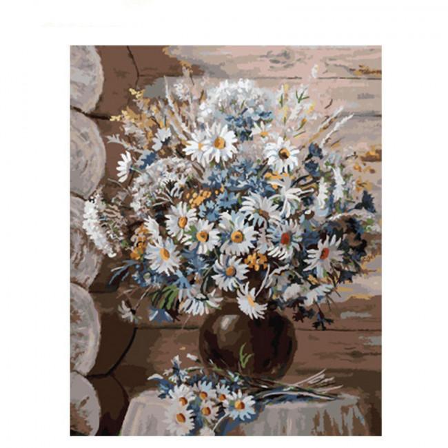 Kit pictura pe numere cu flori, A color stain