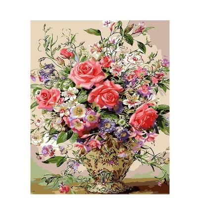 Kit pictura pe numere cu flori, Flowers bouquet