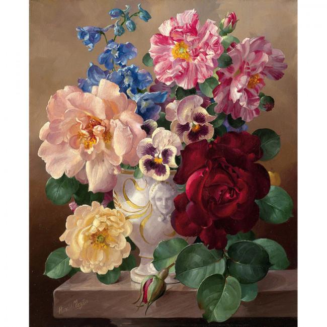 Kit pictura pe numere cu flori, From my grandma garden