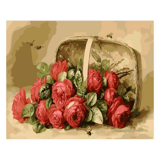Kit pictura pe numere cu flori, Pollination